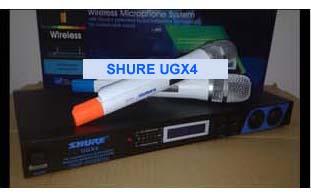 Micro Shure - Micro karaoke Shure UG-X4 xịn đẹp