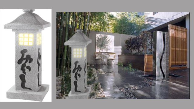Loa trang trí sân vườn hình cột đèn đứng AZ-T12